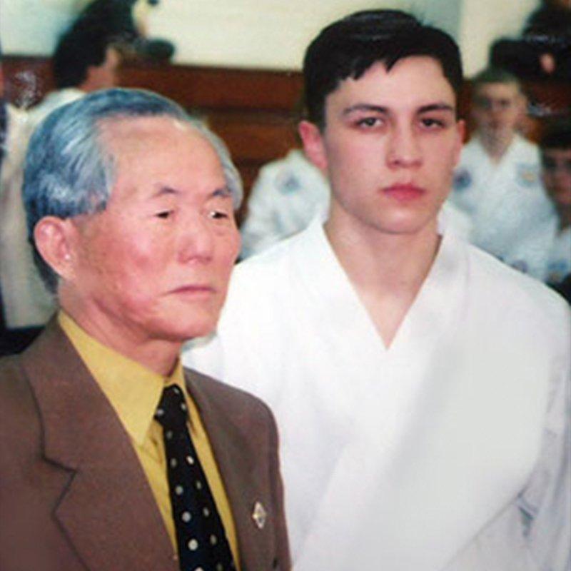 Grand Master Zang with Taekwon-Do Founder General Choi Hong Hi